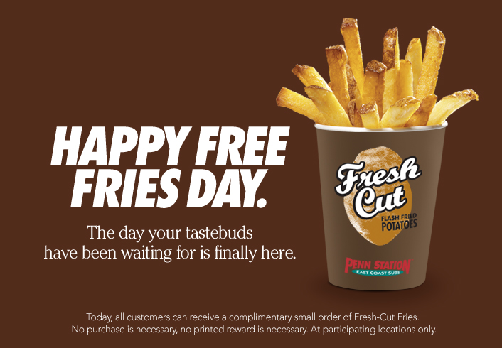 FREE Fresh-Cut Fries at Penn S...