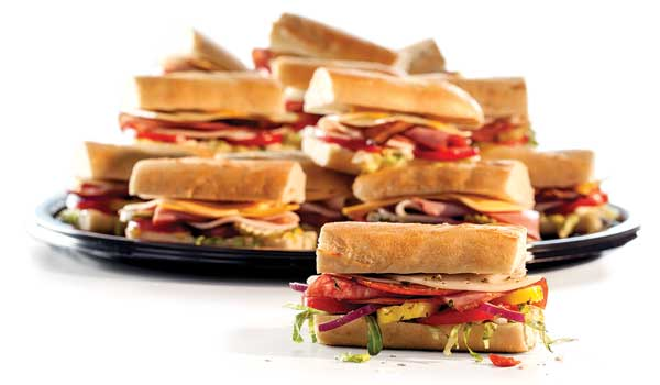 Our Party Sub Trays are packed with 16 specially-made party-sized cold Deli Subs - very handy when you've got a lot of hungry people to feed.