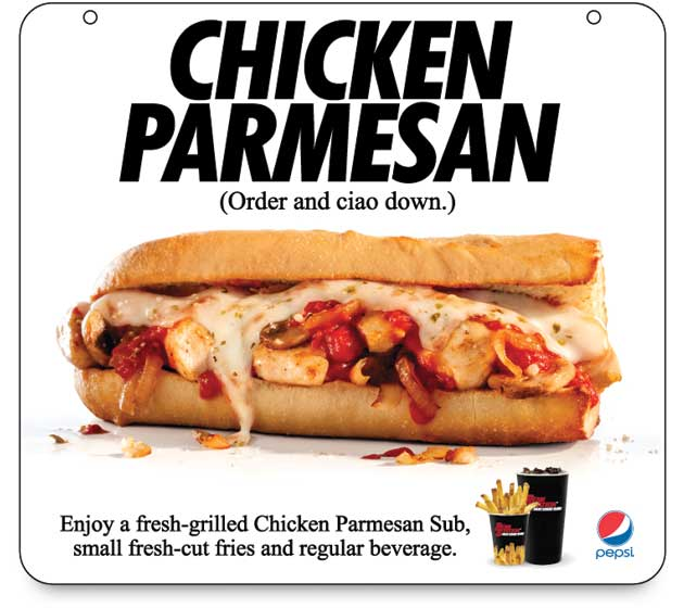 Chicken Parmesan sub is the monthly special