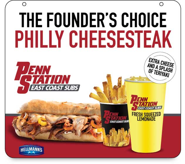 Founder special cheesesteak is the monthly special