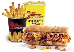 photograph relating to Penn Station Printable Menu known as Penn Station Warm Grilled Subs Contemporary-Lower Fries Contemporary